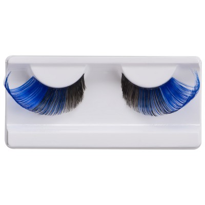 Подиумные накладные ресницы сине-черные Manly Pro Р37: фото