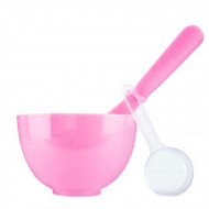 Набор для нанесения альгинатных масок Anskin Beauty Set Pink Rubber Ball Small/Spatula middle/Measuring Cup 1*4: фото