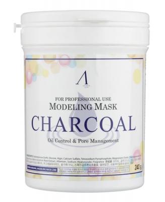 Маска альгинатная для кожи с расширенными порами Anskin Charcoal Modeling Mask 240г: фото