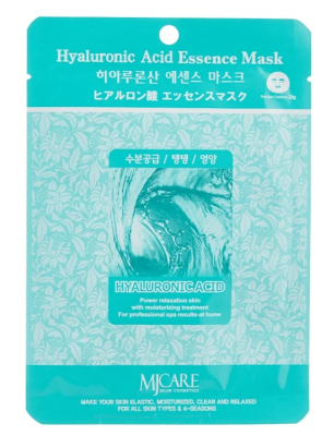 Маска тканевая гиалуроновая кислота Mijin Hyaluronic Acid Essence Mask 23гр: фото