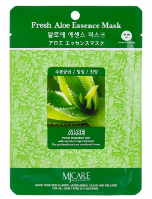 Маска тканевая алоэ Mijin Fresh Aloe Essence Mask 23г: фото