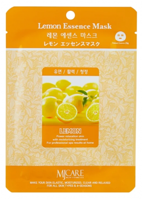 Маска тканевая лимон Mijin Lemon Essence Mask 23гр: фото