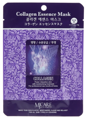Маска тканевая коллаген Mijin Collagen Essence Mask 23гр: фото