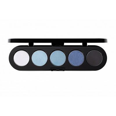 Палитра теней, 5 цветов Make-Up Atelier Paris T27 голубые джинсовые тона: фото
