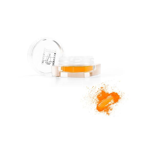 Пигмент рассыпчатый флуоресцентный Make-Up Atelier PF9, жёлто-оранжевый: фото