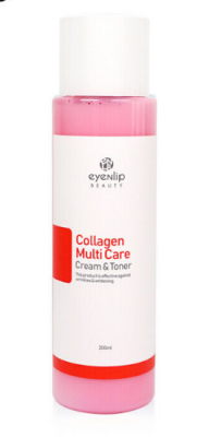 Тонер-крем с коллагеном 2в1 Eyenlip COLLAGEN MULTI CARE CREAM&TONER 200мл: фото