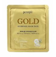 Маска гидрогелевая c ЗОЛОТОМ PETITFEE Gold Hydrogel Mask Pack 5 шт: фото