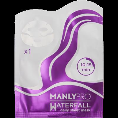 Маска освежающая для увлажнения кожи лица Manly PRO WM1 1шт: фото