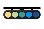 Тени прессованные палитра 5 цветов MAKE-UP ATELIER PARIS Т32 восточное золото 10 г: фото