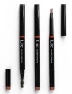 Карандаш механический для бровей с треугольным грифелем Lic Mechanical eyebrow pencil 02 Grey brown: фото