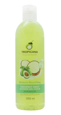 Гель-скраб для душа КОКОС/ МАСЛО АВОКАДО TROPICANA Coconut Daily Shower Gel Scrub Avocado Oil 350 мл: фото