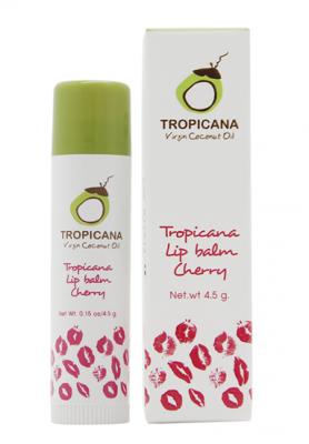 Бальзам для губ ВИШНЕВЫЙ АРОМАТ TROPICANA Lip balm Cherry 4,5г: фото