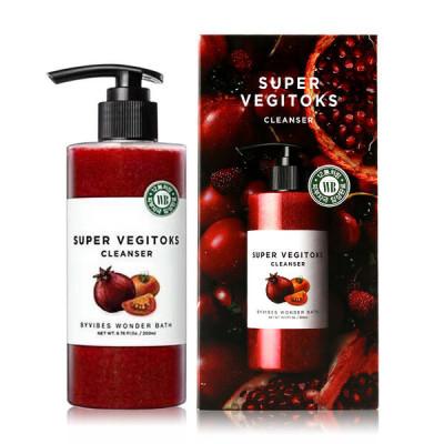 Очищающий осветляющий детокс-гель для жирной кожи Wonder Bath SUPER VEGITOKS CLEANSER [RED] 300ml: фото