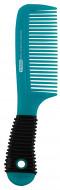 Расческа гребень с прорезиненной ручкой Titania 20,5см цветная: фото