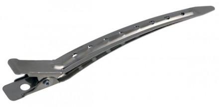 Зажим металлический средний EUROSTIL 85 мм 6шт: фото