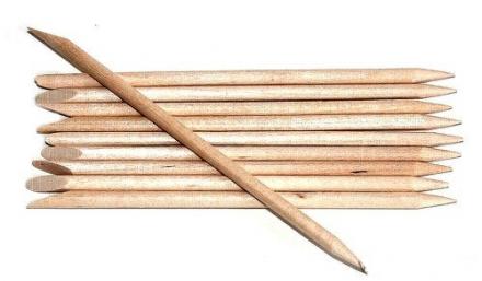 Маникюрные палочки деревянные 10см EUROSTIL 10шт: фото