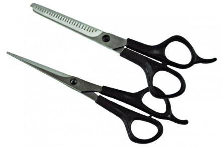 Ножницы парикмахерские набор Красный металлист 2 шт: фото
